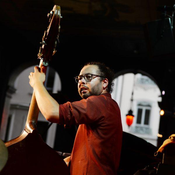 Pierrot Brondel, Uptown Quintet, Jazz au Péristyle de l'Opéra de Lyon, juillet 2016, photo Alain Rico
