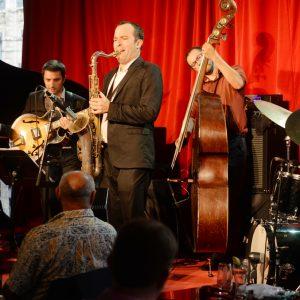Uptown Quintet, hommage à Grant Green, Jazz au Péristyle, juillet 2016, photo Alain Rico