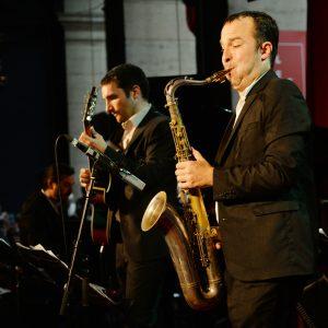 Jazz au Péristyle de l'Opéra de Lyon, Olivier Calvet, Matthieu Guerret, photo Alain Rico