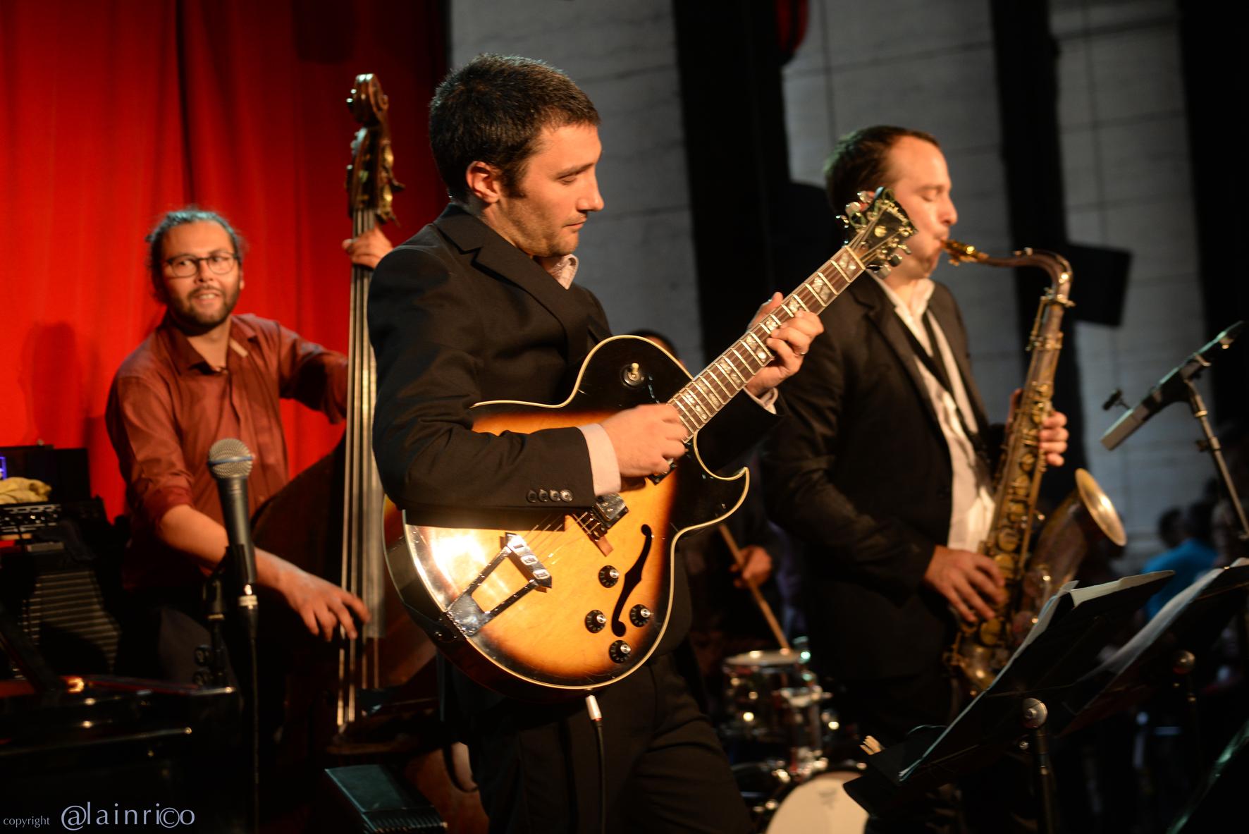 Uptown Trio, Olivier Calvet, Pierrot Brondel, Matthieu Guerret, Jazz au Péristyle de l'Opéra de Lyon